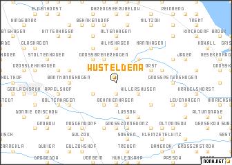 map of Wüst Eldena