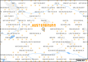map of Wüstenbrunn