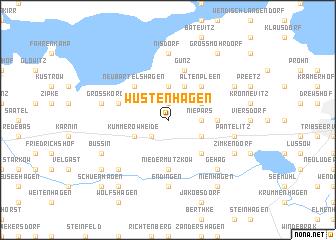 map of Wüstenhagen