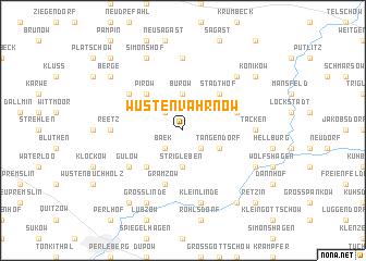 map of Wüsten-Vahrnow