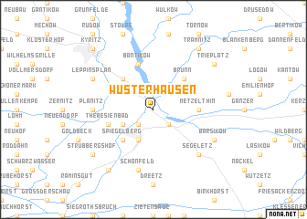 map of Wusterhausen