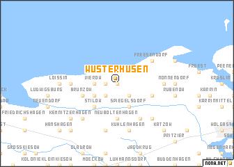 map of Wusterhusen