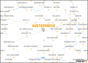 map of Wüstermarke