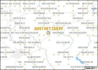map of Wüsthetzdorf