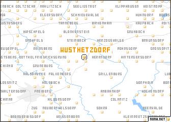 map of Wüsthetzdorf