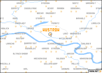 map of Wustrow