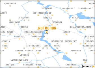 map of Wuthenow
