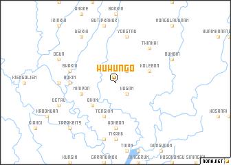 map of Wuwungo
