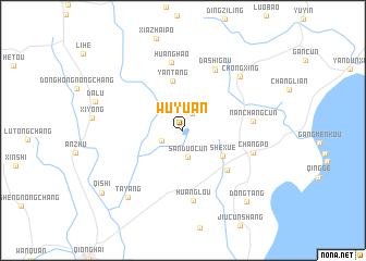 Wuyuan (China) map   nona.net