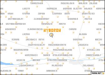 map of Wyborów