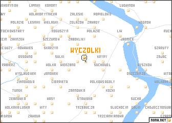 map of Wyczółki