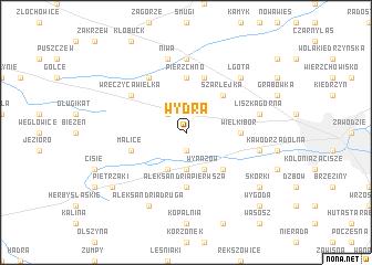 map of Wydra