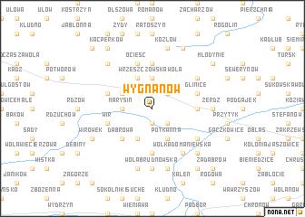map of Wygnanów