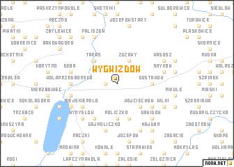 map of Wygwizdów