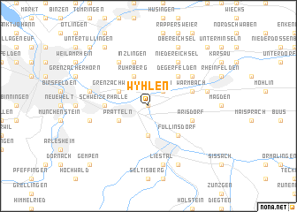 map of Wyhlen