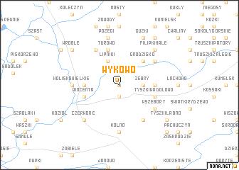 map of Wykowo