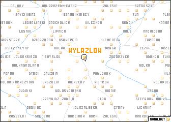 map of Wylazłów