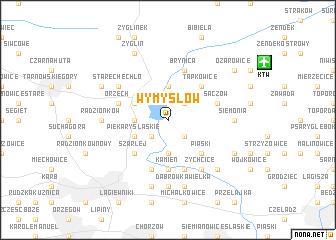 map of Wymysłów