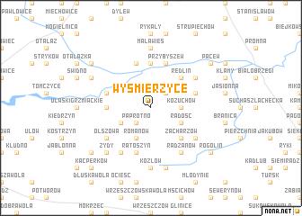 map of Wyśmierzyce