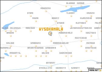 map of Wysoka Mała