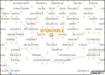 map of Wysoki Małe