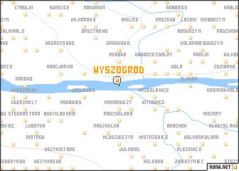map of Wyszogród