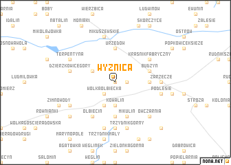map of Wyżnica