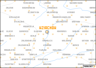 map of Wziąchów