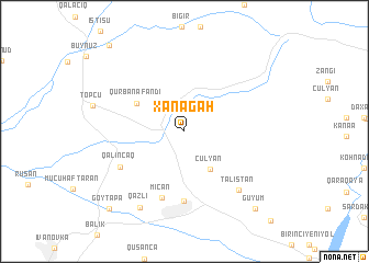 map of Xanǝgah