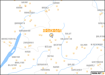 map of Xankǝndi