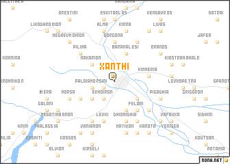 map of Xánthi