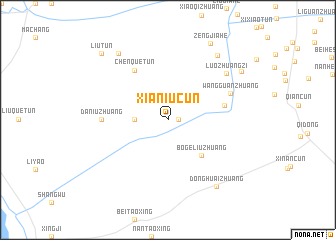 map of Xianiucun