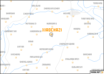map of Xiaochazi