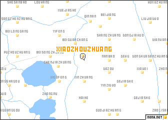 map of Xiaozhouzhuang