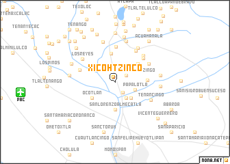 map of Xicohtzinco