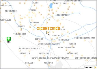 map of Xicohtzinco