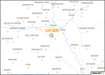 map of Xifianí