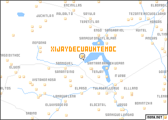 map of Xijay de Cuauhtémoc