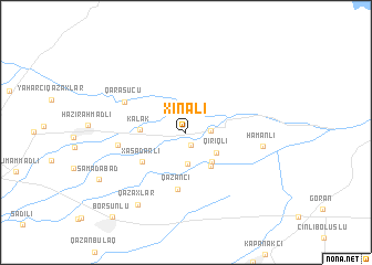 map of Xınalı