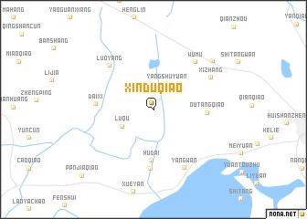 map of Xinduqiao