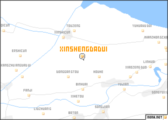 map of Xinshengdadui