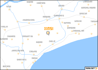 map of Xinsi