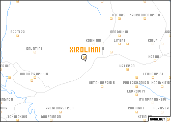map of Xirolímni