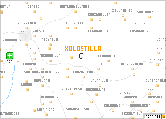 map of Xolostilla