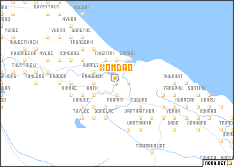 map of Xóm Ðào