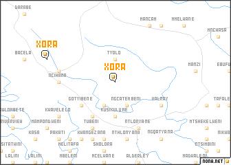map of Xora