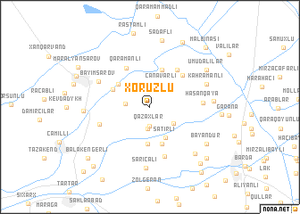 map of Xoruzlu