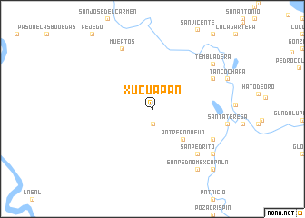 map of Xucuapan