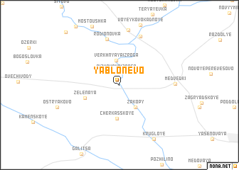 map of Yablonevo
