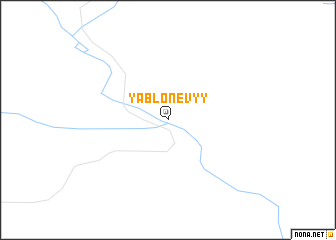 map of Yablonevyy